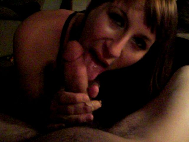 Amazing amateur cutie Olive sucking a large dick with lust in bedroom
