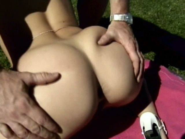 Appealing blonde amateur chick Sharon Wild getting tight pussy nailed outdoors