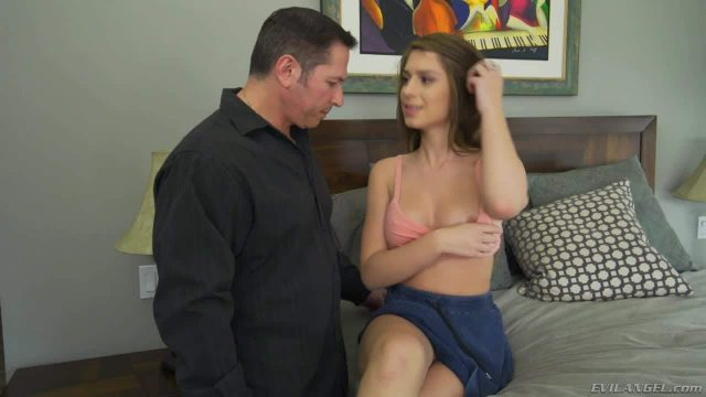 Cute brunette Joseline Kelly gets her beautiful tits licked by