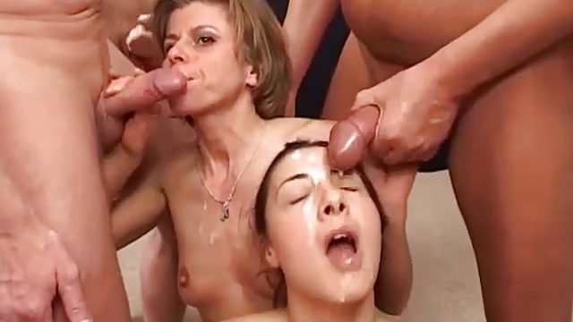 Filthy amateur doused with cum