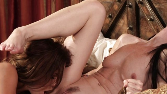 India Summers and Megan Rain hot pussy eating action