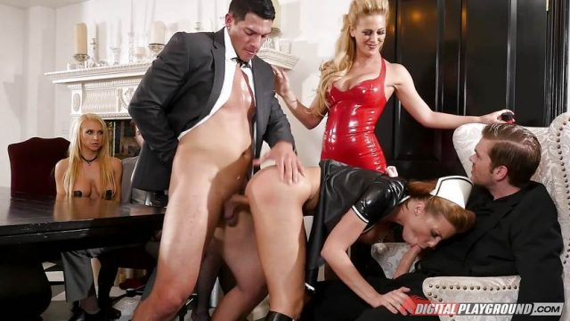 Pussy hammering the kinky sex slave maid Britney Amber