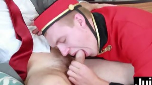 Sexy Zane Anders barebacks Cameron Kincade in the hotel room