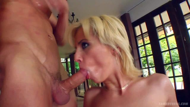 Skinny and arousing blonde honey with small boobs and shaved