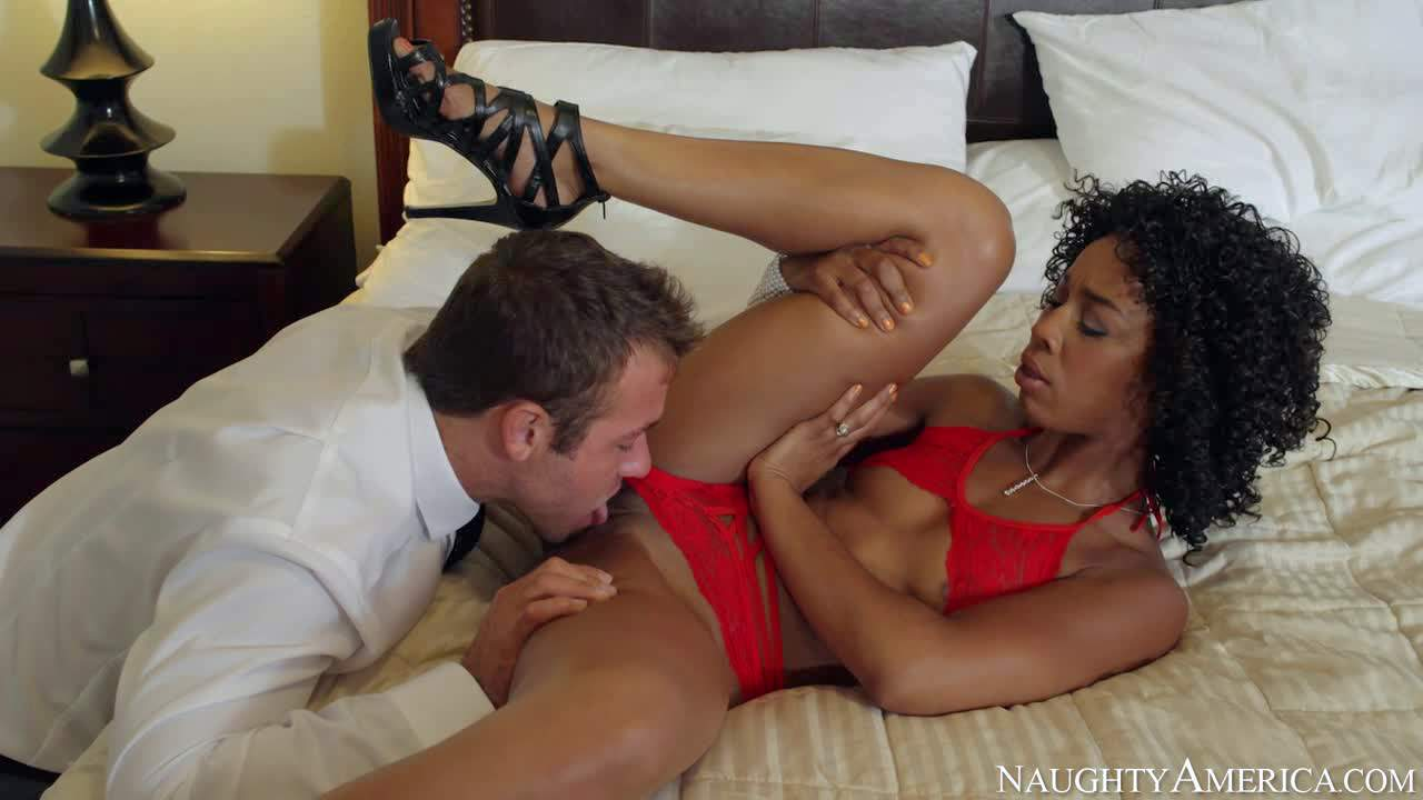 Slender ebonty wife Misty Stone is sex hungry 24/7 as