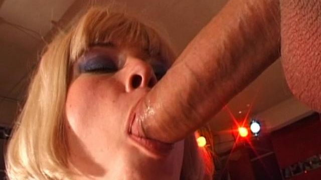 Superb blond Czech honey slurping an immense schlong
