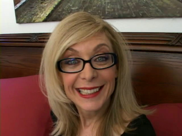 Sweety blonde granny in glasses Nina Hartley talking dirty in the bedroom
