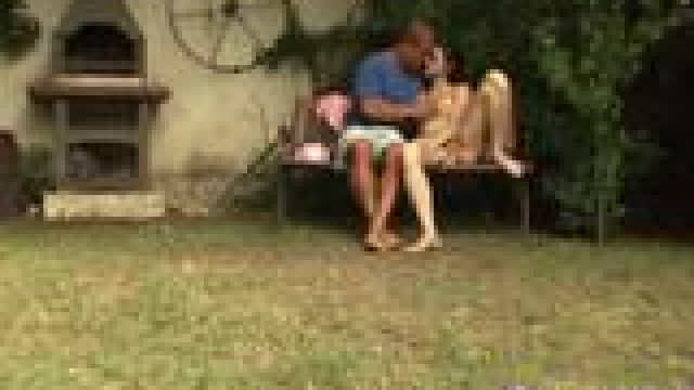 Very hot blowjob hd Miho gets pulverized in the backyard