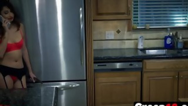 Kitchen Jade Jantzen Fucking Burglar Long Dong