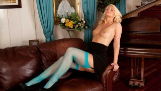 Stunning blonde mature