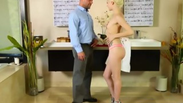 Blonde Masseuse Small Tits Elsa Jean Sideways