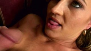 Dirty blonde milf Darian getting wet beaver humped by a large penis