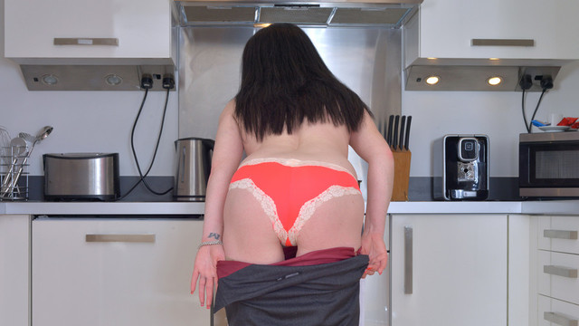 Naughty housewife plays