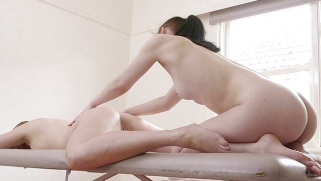 Redhead plays with her partners moist pussy