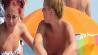 Horny Amateur Big Boobs Teens Voyeur Beach Video