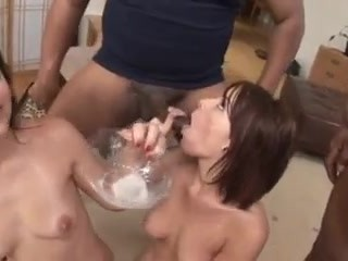 Dana and Bobbi in an amazing gangbang