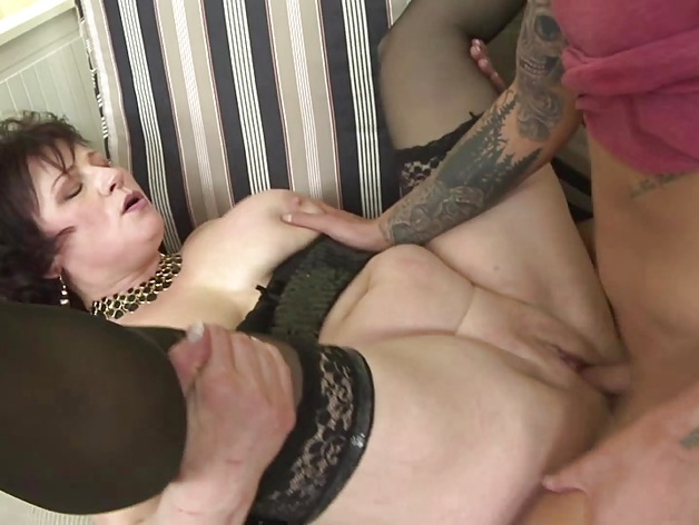 Horny housewife doing her sexy toyboy