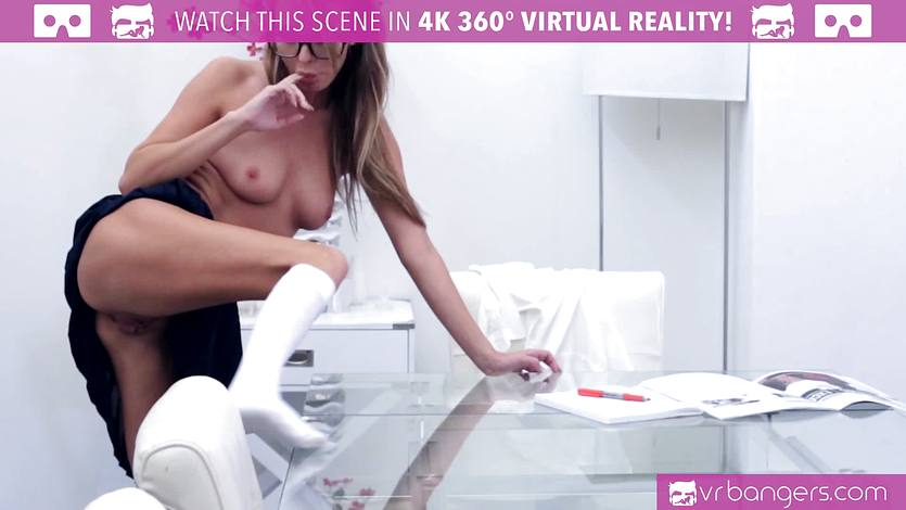 HORNY Pristine Edge touching her PUSSY while studying