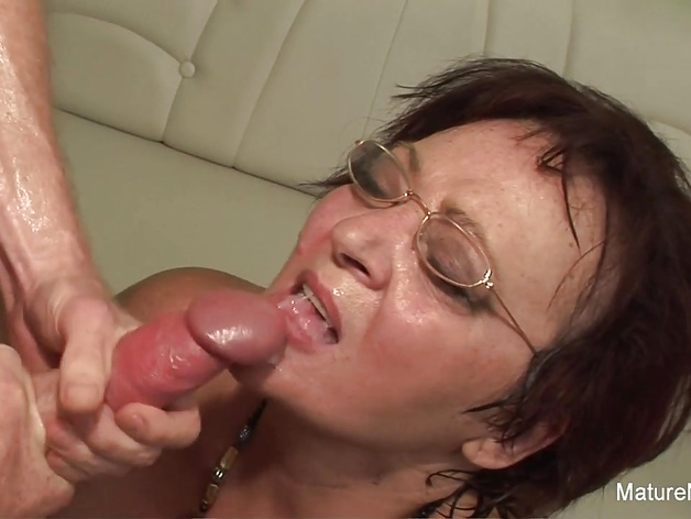 Insatiable granny keeps her stockings on for fucking