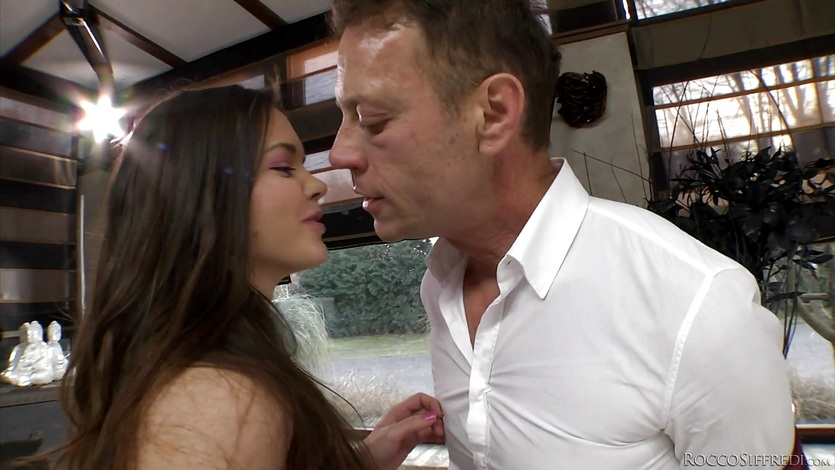 Nataly Gold and Audrey Jane getting drilled by Rocco Siffredi