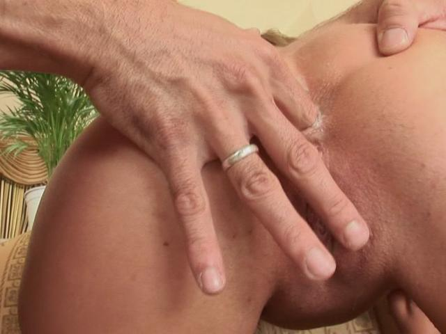 Sexual whore getting round ass fingered doggy style