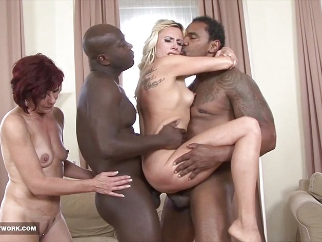 Black men Fuck White Women during hot sesh