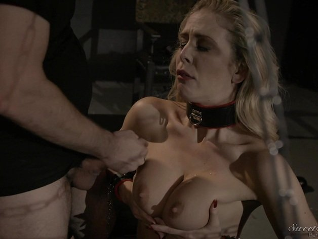 Cherie Deville tied up and getting pleasured