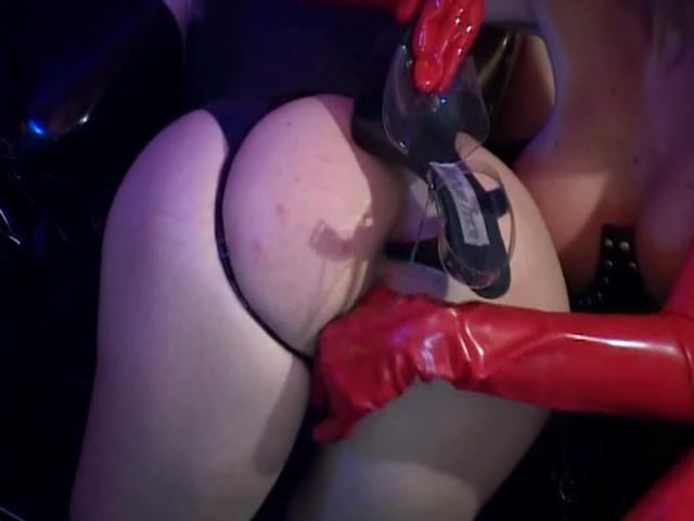 Enamored lesbian fetish tramps fuck asses with high heels