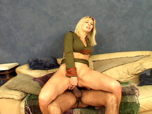 Superb blonde army hooker Celestia Star masturbating her sexy asshole