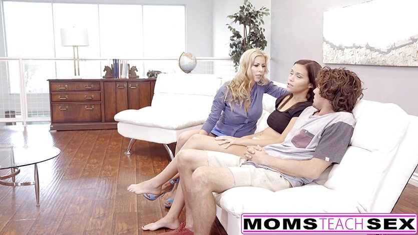 MomsTeachSex – Mom Caught Me With My GF And Joins